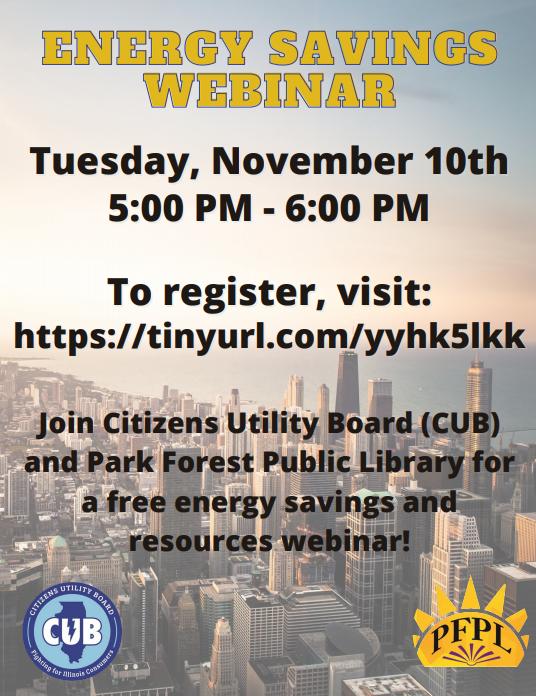Energy Savings Webinar