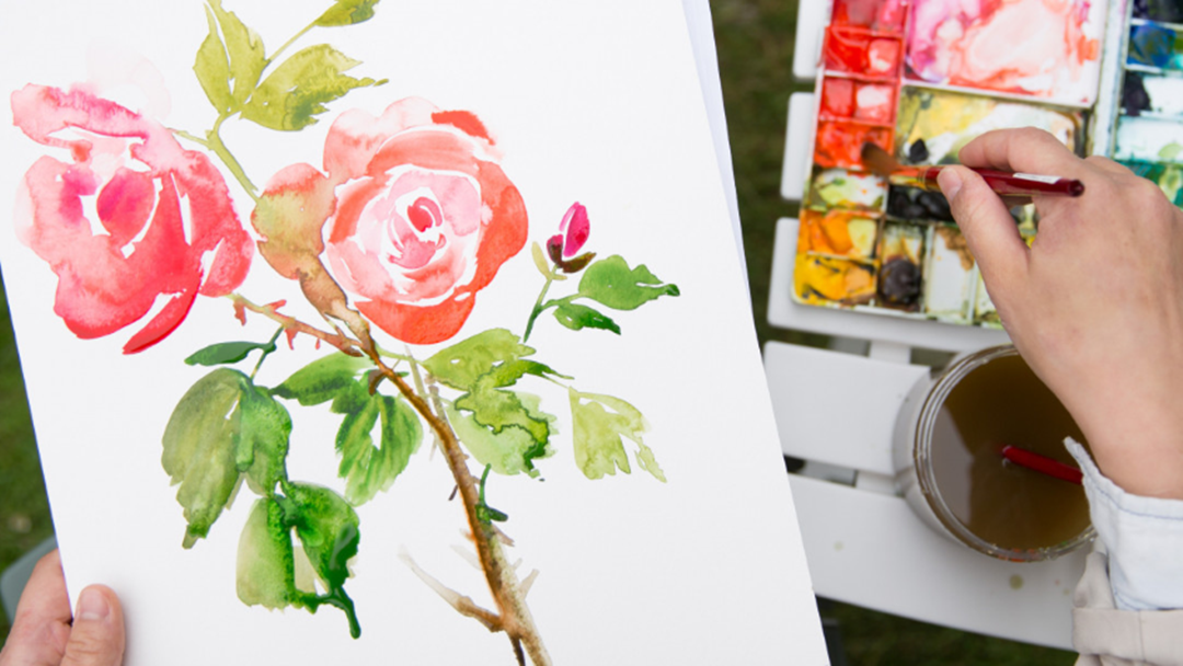 Watercolor Painting in the Garden on Creativebug
