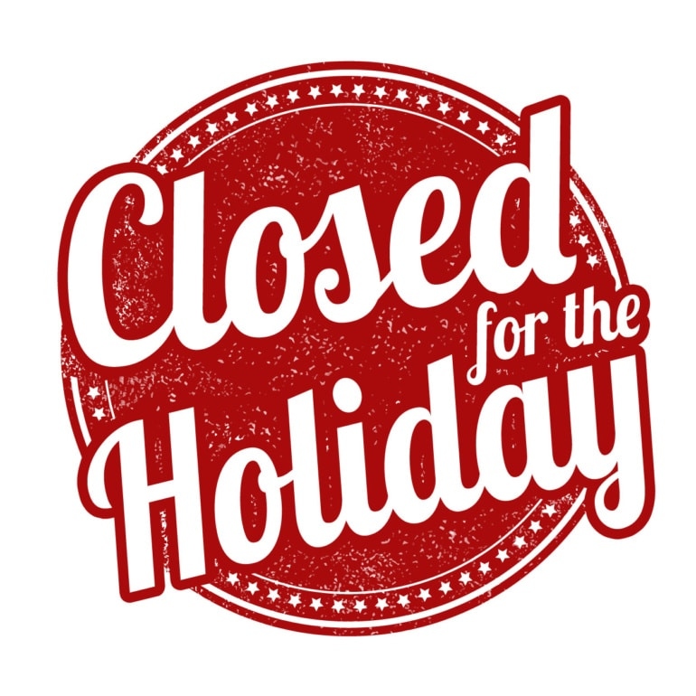 Library is Closed - Christmas