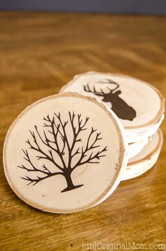 Adult Craft Kits - Wood Slice Coasters