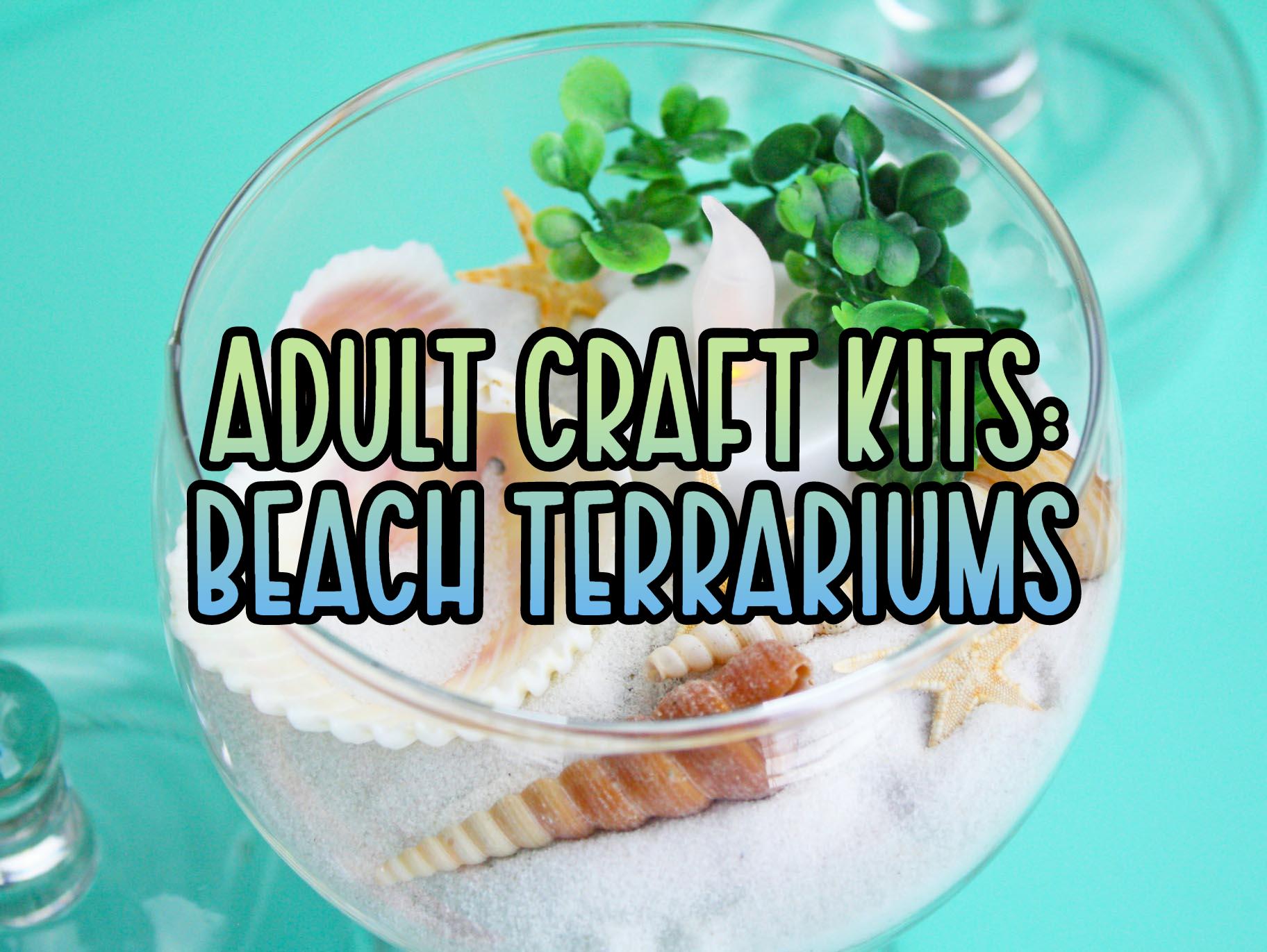 Adult Craft Kits: Beach Terrariums
